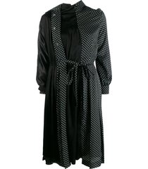 junya watanabe trench coat dress - black