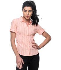 camisa intens manga curta algodão laranja