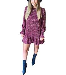 ax paris women's polka dot printed shift dress