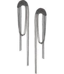 fabiana filippi draped-bead earrings - grey