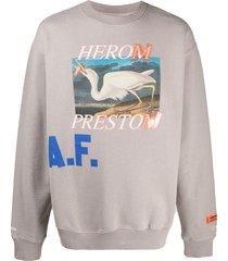 heron a.f. pullover sweatshirt
