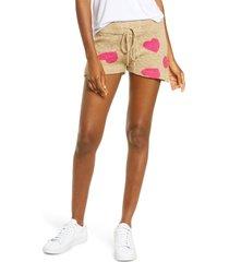 women's beach riot sandy knit shorts, size x-large - beige
