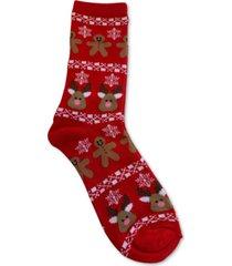 charter club gingerbread & reindeer socks, created for macy's