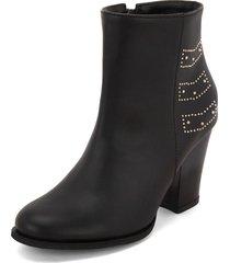 botín negro  heels.d