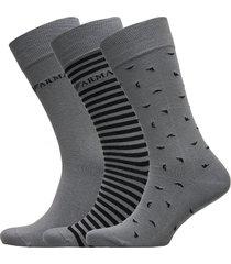 men's knit short soc underwear socks regular socks grå emporio armani