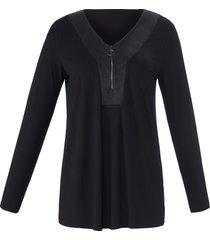 shirt lange mouwen en v-hals van emilia lay zwart