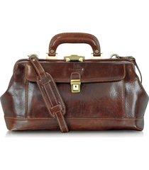 chiarugi designer doctor bags, handmade brown leather professional doctor bag