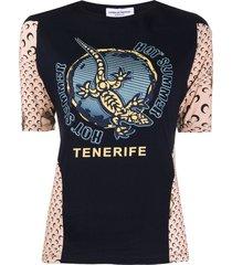 marine serre 'hot summer' graphic t-shirt - blue