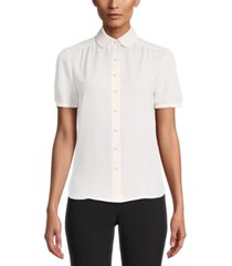 anne klein collared blouse