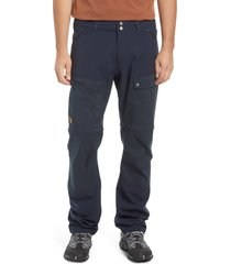 men's fjallraven abisko midsummer zip off pants, size 34 us/ 50 eu - blue