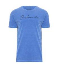 t-shirt masculina meia malha silkada manu - azul