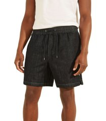 guess men's pull-on jean shorts