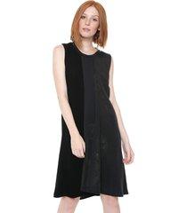 vestido desigual curto karla preto/cinza