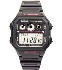 reloj casio ae_1300wh_1a2v negro resina