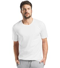 hanro heren sleep & lounge living leisure s/slv shirt wit