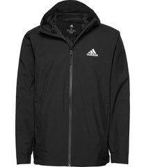bsc 3s rain.rdy outerwear sport jackets zwart adidas performance