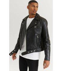 skinnjacka biker leather jacket