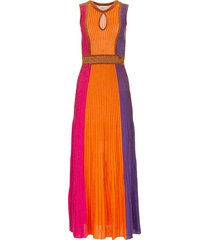 gebreide jurk met glittergaren tiara  multi