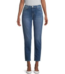 l'agence women's mon jules the perfect-fit ankle jeans - blue - size 23 (00)