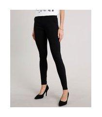 calça legging feminina estampada mini print de poá preta