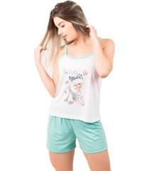 pijama bella fiore short doll regata juliana