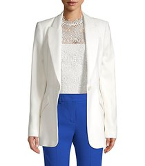 madison crepe one-button blazer