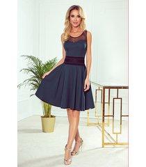 261-2 rica sukienka z tiulowymi wstawkami