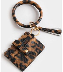 betsy leopard scallop card case - leopard