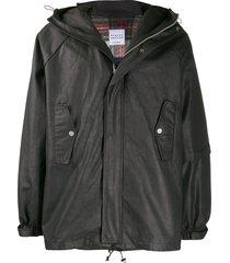 raglan united hooded lightweight jacket - black