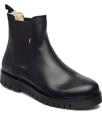 warm lined chelsea boot shoes chelsea boots svart tommy hilfiger