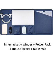 """12"""" de fieltro bolsa funda portátil de diseño pad combinación establec"""