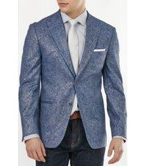 tallia men's paisley metallic slim fit blazer