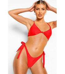 essentials geknoopte driehoek bikini top, rood