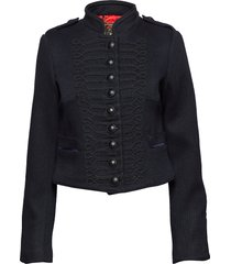 cropped duchess wool jkt ulljacka jacka blå superdry