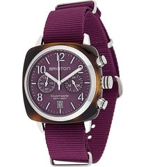 briston watches clubmaster classic 40mm watch - purple