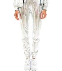 dolly noire pantaloni donna silver chromepant sh123