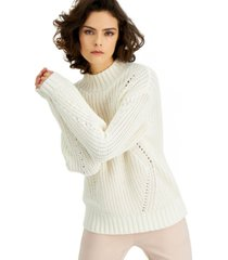 alfani petite chunky knit mock neck sweater, created for macy's