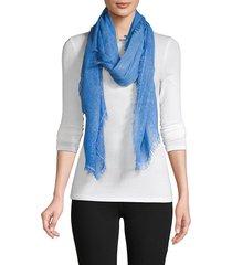 la fiorentina women's frayed scarf - blue