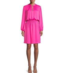 trina turk women's jet set jungle kaneshon keyhole tunic dress - trina pink - size 4