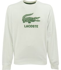 lacoste sweatshirt with round neck and cracked logo print