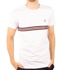 camiseta fondo entero cinta blanco negro ref. 107081119