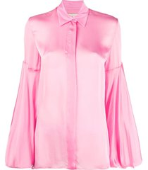 alexandre vauthier flared sleeve shirt - pink