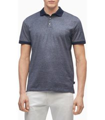 calvin klein men's liquid touch pattern polo shirt