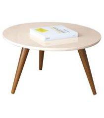 mesa de centro com pés palito sorelle off white - hb móveis