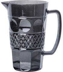 jarra de vidro geometric cinza de 1 litro