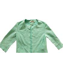 very simple kort stevig groen blazer jasje