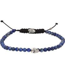 degs & sal stone bead skull bracelet in blue at nordstrom