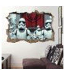 adesivo buraco na parede star wars stormtroomper - g 65x100cm