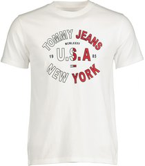 tommy jeans t-shirt - slim fit - wit