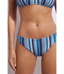 calzedonia bottom swimsuit dubai woman blue size 2